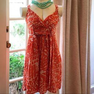 LC Lauren Conrad Orange Print Dress - Cute! ❤️
